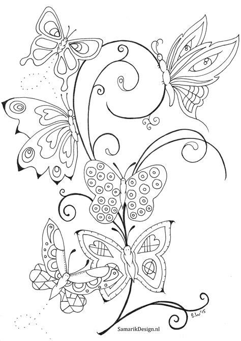 Kirby Kleurplaat Woods by Kleurplaat Voor Volwassenen Butterflies Color Me Happy
