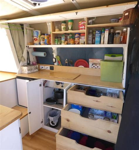 rv kitchen storage diy cer house car diy cer vans 2080