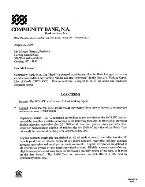 mortgage commitment letter 9 bank commitment letter time table chart