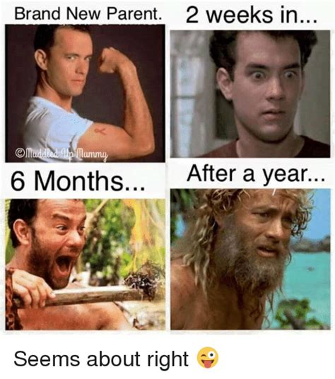 Parent Meme - brand new parent 2 weeks in 6 months after a year seems about right dank meme on me me