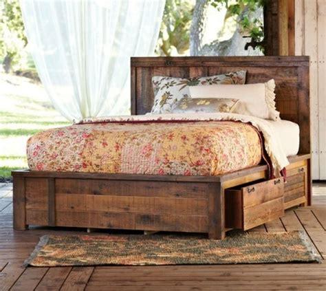 superbe lit table de nuit integree 9 lit avec rangement rustique retro tres romantique et