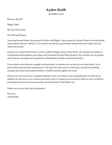 Email Cover Letter Exle by Cover Letter Formats Formatting Advice That Will Win You