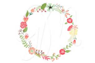 floral wreaths clip and flowers illustrations on creative market