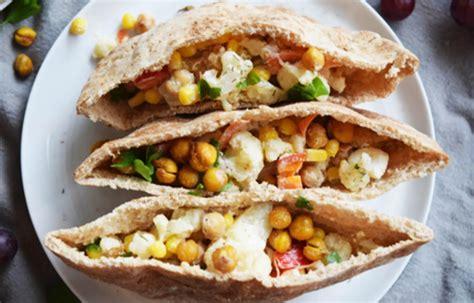 Roasted Chickpea Cauliflower Pita   Toufayan Bakeries ...