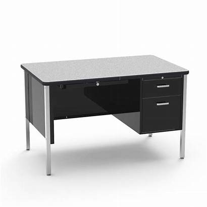 Desk Teacher Pedestal Single Rectangle Furniture Virco