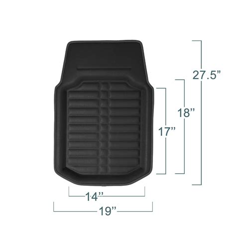 Amazonca Car Floor Mats by Fh F14409solidblack Tray All Weather Floor Mat