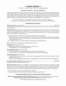 Business analyst resume examples template for Best business resume template