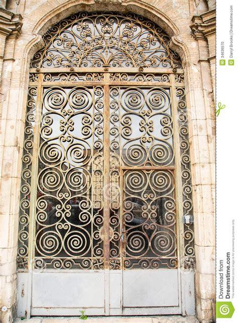 ornate scrollwork  door stock photo image