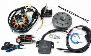 Powerdynamo  Complete System With Advance Control For Early Yamaha Rd With Stock Points