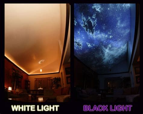 invisible blacklight paint for walls hidden night sky invisible black light living room mural