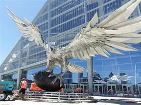 Mercedes-Benz Atlanta Falcon Stadium Statue