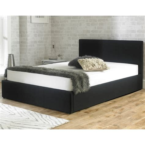 king size ottoman storage bed discounted stirling 5ft king size black fabric ottoman