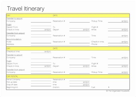 excel itinerary 12 travel itinerary template excel exceltemplates exceltemplates