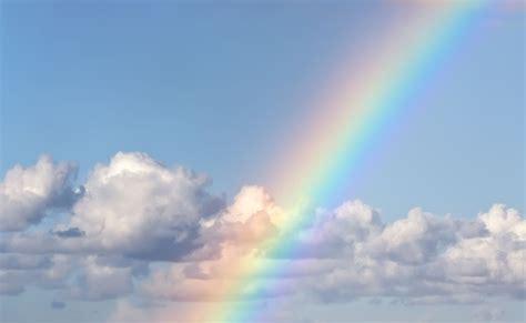 wallpaper rainbow  blue sky wallpaper