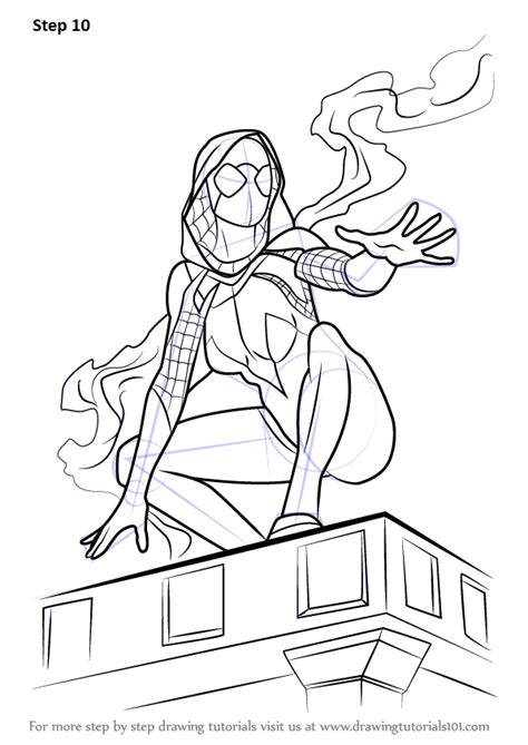 learn   draw spider gwen marvel comics step  step