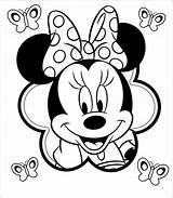 Minnie Mouse Coloring Printable Mickey Colorir Desenhos Disney Desenho Bow Imprimir Drawing sketch template