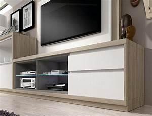 Moderne Tv Möbel : moderne holz tv m bel mit wei en fronten stube ~ Michelbontemps.com Haus und Dekorationen
