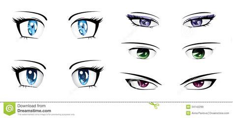 Different Anime Eyes Stock Illustration. Illustration Of
