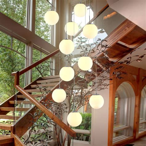 staircase pendant lighting for living room glass