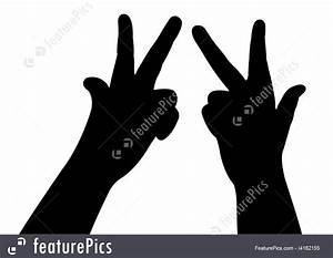 Woman Hands Silhouette Vector
