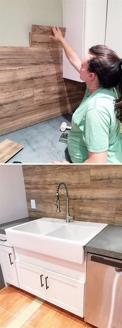 laminate flooring backsplash 25 frugal and creative kitchen backsplash diy projects hative