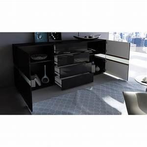 Sideboard Weiß Schwarz : sideboard kommode flow in wei oder schwarz hochglanz 177 cm ambient light ebay ~ Orissabook.com Haus und Dekorationen