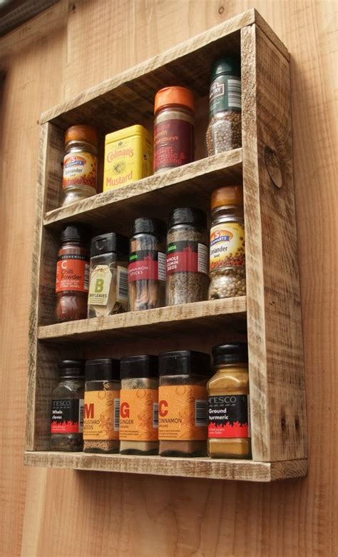 how to make spice racks for kitchen cabinets rustic spice rack kitchen shelf made from reclaimed wood 9797