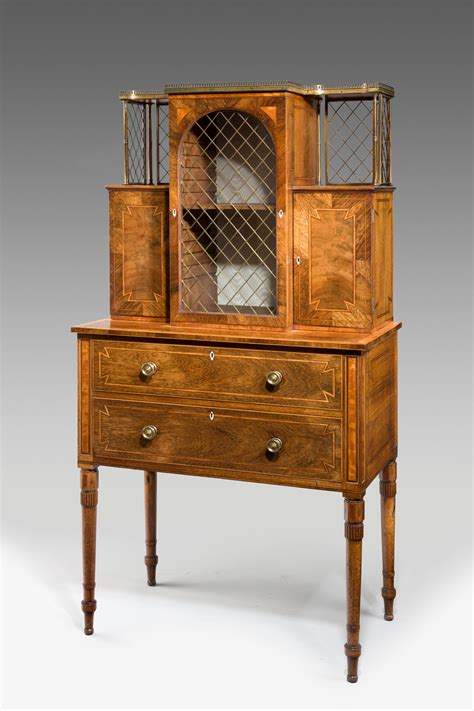 antique shop display cabinets for antique regency rosewood secretaire display cabinet 9032