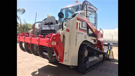 takeuchi tl fitted  rear rippers tilting    bucket youtube