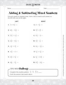 Adding and Subtracting Mixed Number Fractions Worksheets