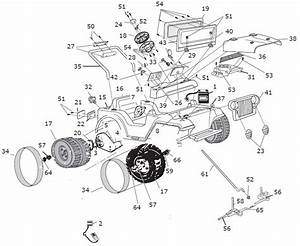 Power Wheels Barbie Jeep Lil Wrangler Parts