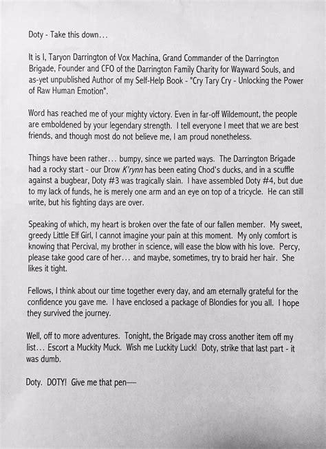 emotional letter to best friend matthew mercer matthewmercer 51042