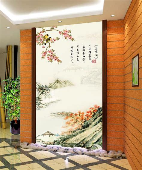 Tapisserie Chinoise by Papier Peint Tapisserie Asiatique Paysage Avec Le Po 232 Me