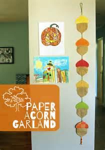Paper Acorn Garland Make And Takes