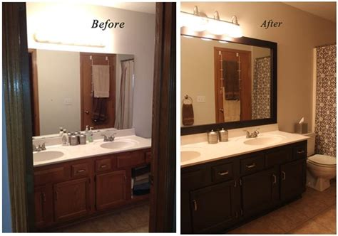 painting bathroom cabinets  homemade painting