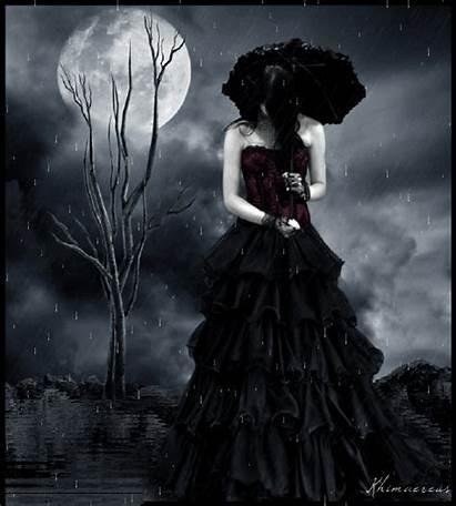 Goth Gothic Rain Gifs Woman Profile Dark