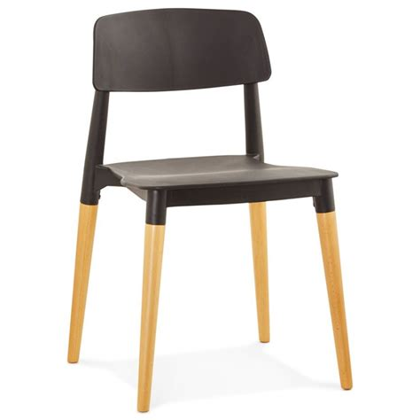 designer de chaise celebre chaise design scandinave coque plastique noir empilable