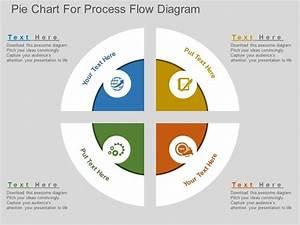 Lr Pie Chart For Process Flow Diagram Flat Powerpoint