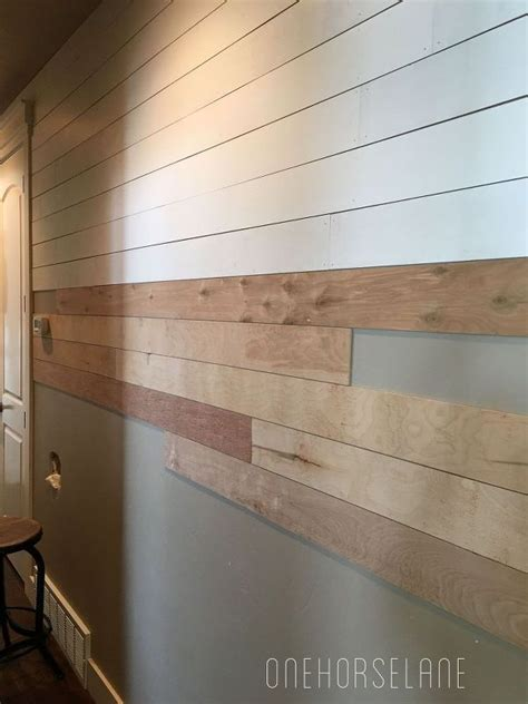 How To Make Shiplap by Diy Shiplap Wall Easy Cheap And Beautiful Part 1