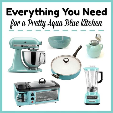 aqua kitchen accessories everything you need for a pretty aqua blue kitchen 1325