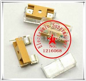 Free Shipping 50pcs Fuse Holder With Transparent Lid 5 20