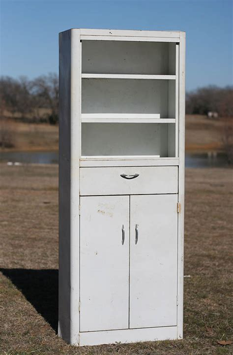 White Metal Cabinet by Salvage77 187 New Items 3 11 2014