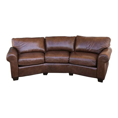 Personalized Sofa by Custom Curved Leather Sofa By Omnia Leather Original