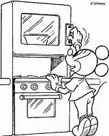 Coloring Kitchen Mickey Pages Colorear Para Cocina Dibujos Colouring Pintar Mouse Sheets Clipart Disney Cocinas Con Imprimir Pdf Cocinar sketch template