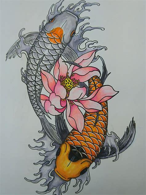 tattoo uploaded   lourens yin  koi fish