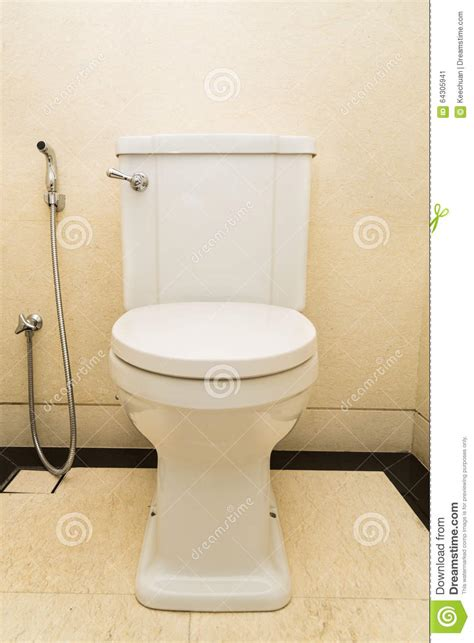 modern and hygienic toilet bowl with bidet in bathroom stock image image 64305941
