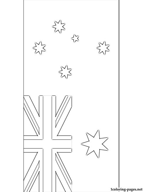 australia flag coloring pages coloring pages