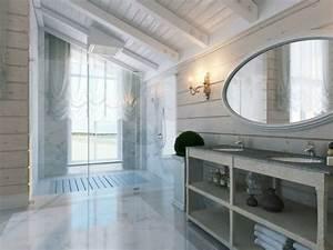 Amenagement combles reves sous plafond mansarde for Salle de bain design avec plaque décorative plafond