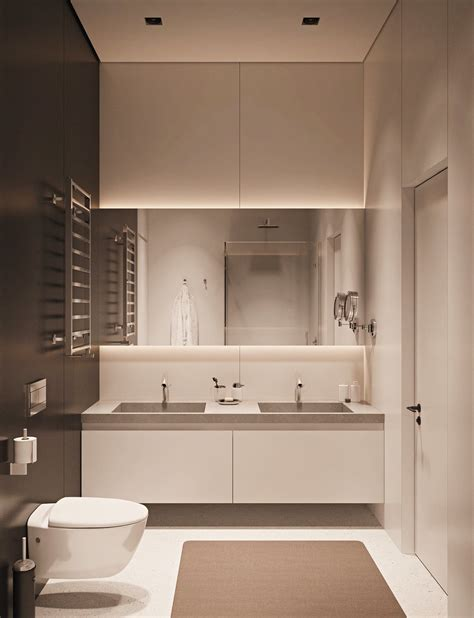 Small Bathroom Interior Design by Small Space Luxury Three Modern Apartments 40