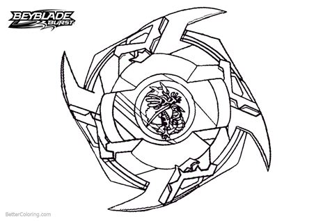 comfortable beyblade burst coloring pages powerful